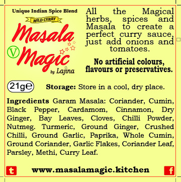 Masala Magic Sachet Sticker Back