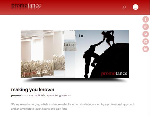 Promotance Website update