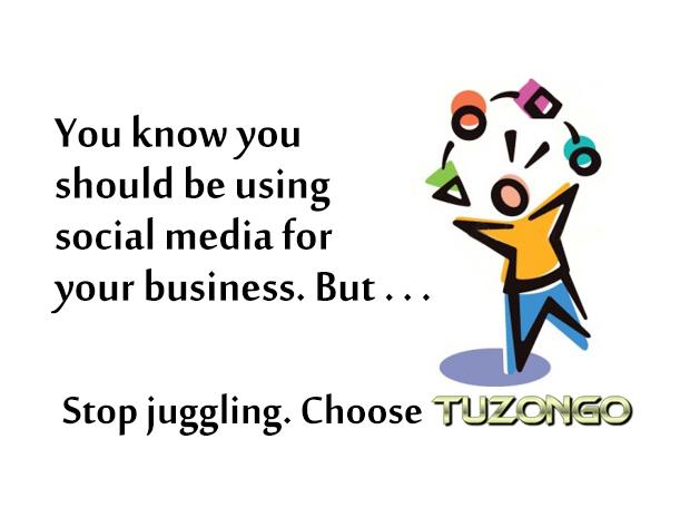 Stop Juggling - Choose TUZONGO