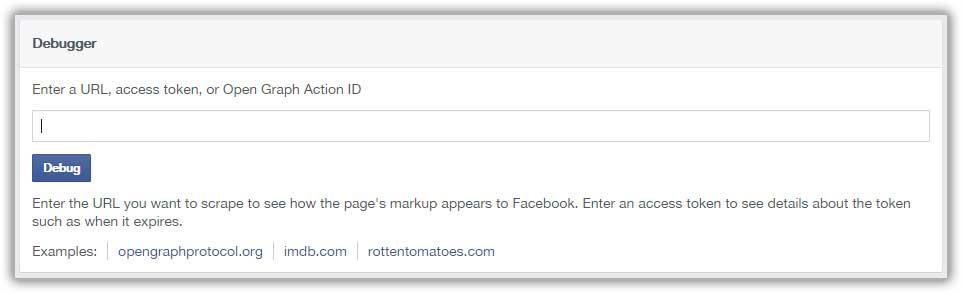 Facebook url Debugger
