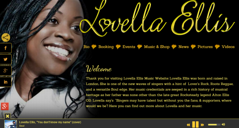 Lovella Ellis Music Goes Online