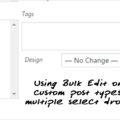 Bulk Edit WP custom post type with multiple select dropdowns