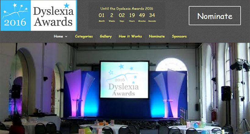 Dyslexia Awards Website