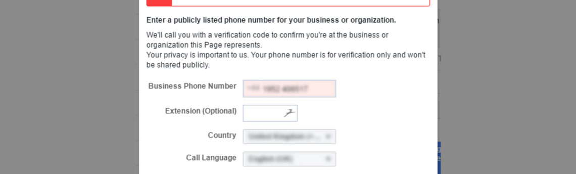 Facebook Page verification broken with no fix in sight