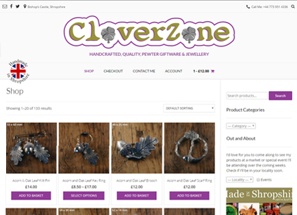 CloverZone - Hand Made Pewter Post