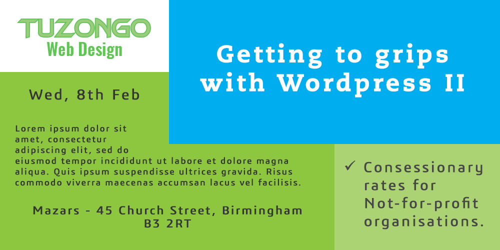 Getting to grips with Wordpress II